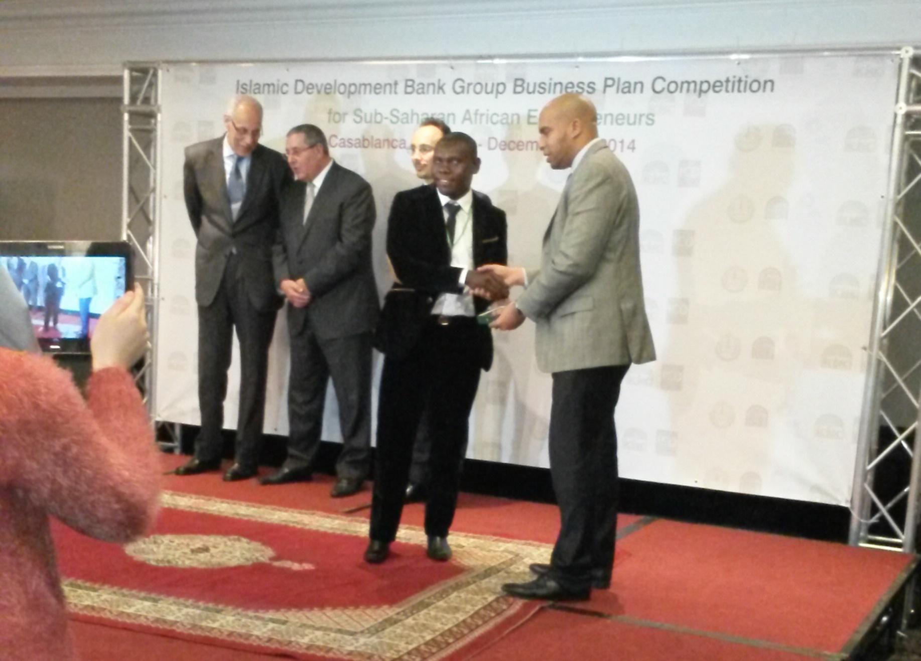 Remise de Prix au Concours Business Plan organisé par la Banque Islamique de Développement à Casablanca – Maroc