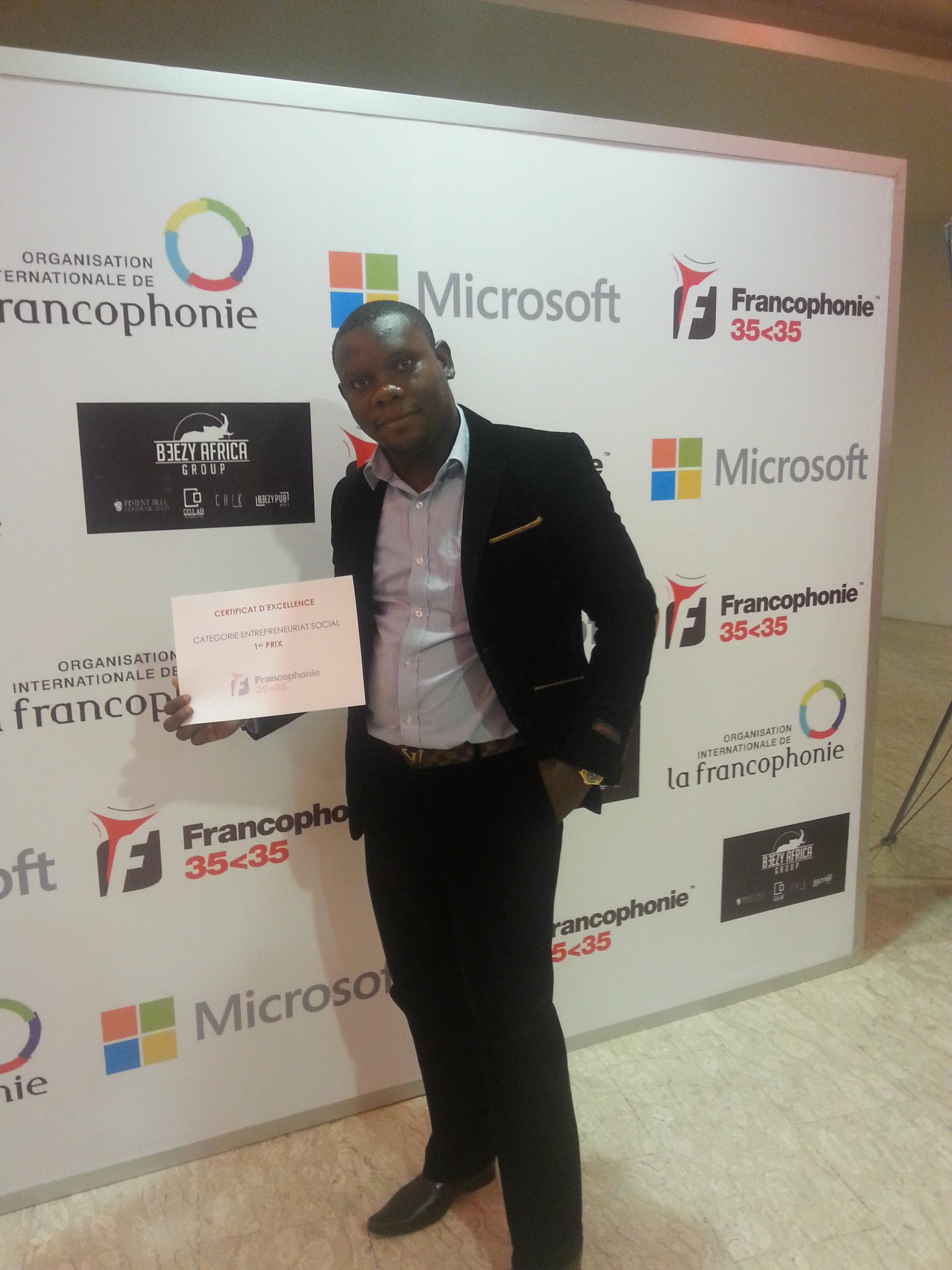 Remise de Prix Jeunesse de la Francophonie 35<35 à Abidjan – Cote d'Ivoire